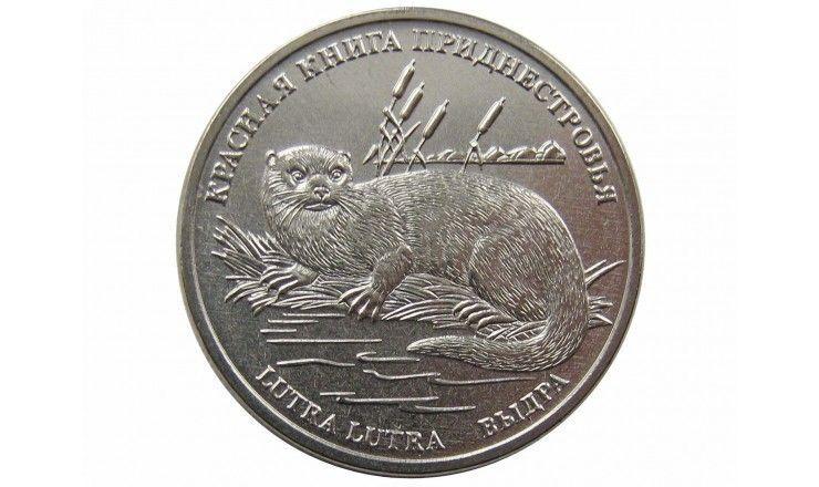 Приднестровье 1 рубль 2018 г. (Выдра)