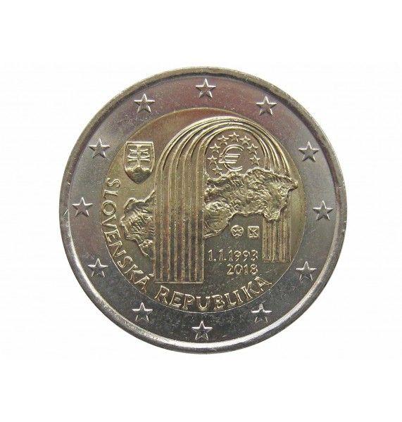 Словакия 2 евро 2018 г. (25 лет Словацкой республике)