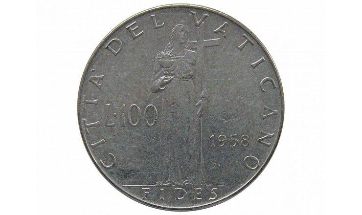 Ватикан 100 лир 1958 г.