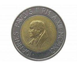Ватикан 500 лир 1991 г.