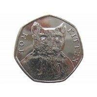 Великобритания 50 пенсов 2017 г. (Котенок Том)