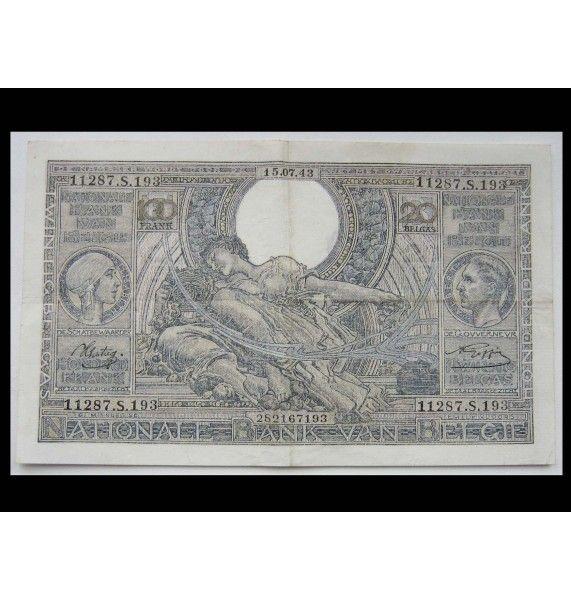 Бельгия 100 франков 1943 г.