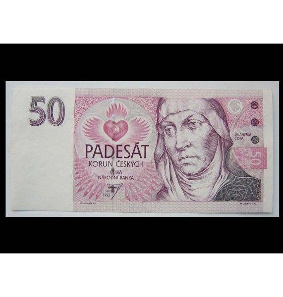 Чехия 50 крон 1993 г.