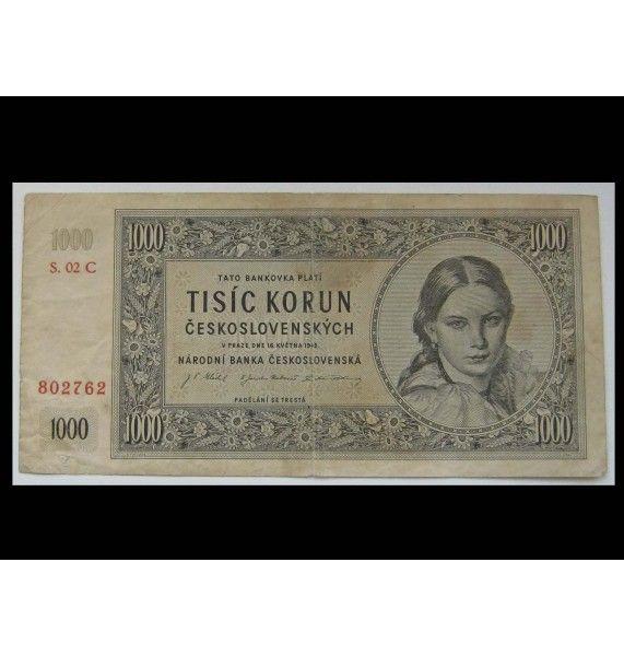 Чехословакия 1000 крон 1945 г.