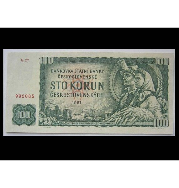 Чехословакия 100 крон 1961 г.