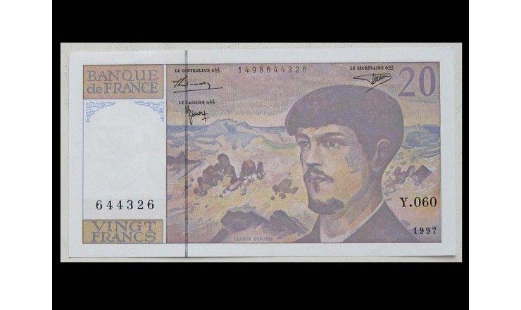 Франция 20 франков 1997 г.