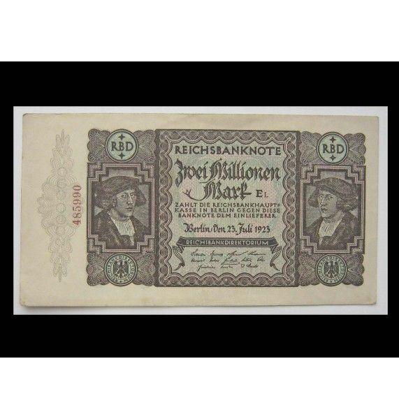 Германия 2 миллиона марок 1923 г.