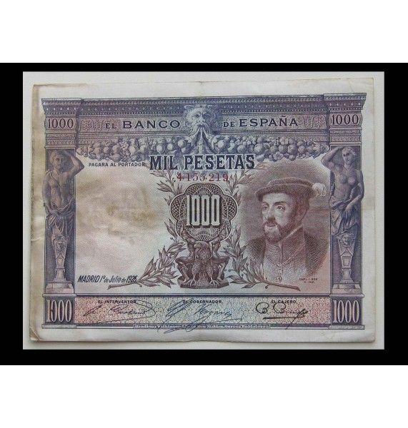 Испания 1000 песет 1925 г.