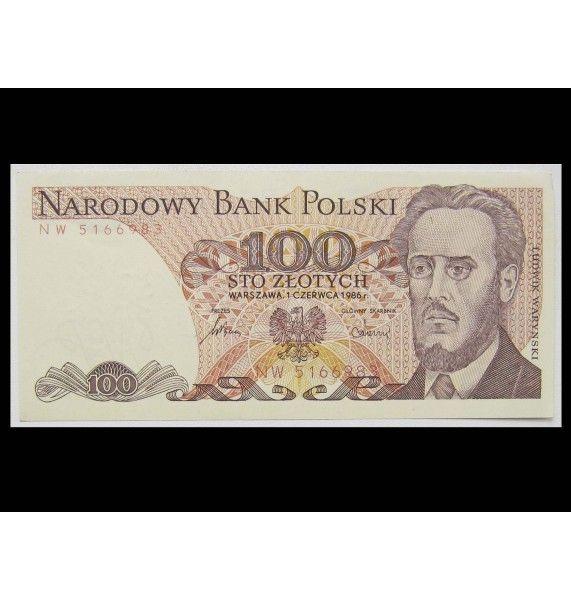 Польша 100 злотых 1986 г.