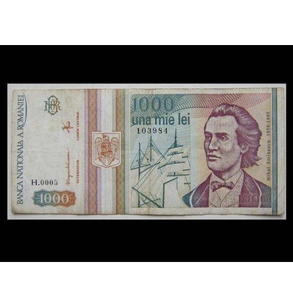 Румыния 1000 лей 1993 г.