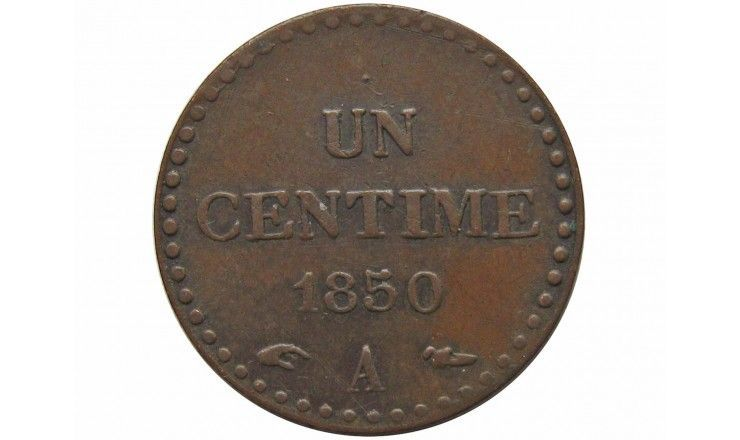 Франция 1 сантим 1850 г.