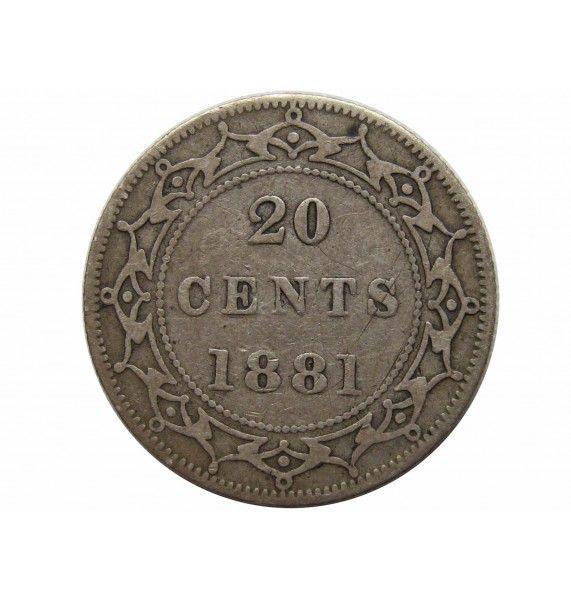Ньюфаундленд 20 центов 1881 г.