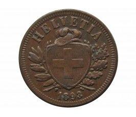 Швейцария 2 раппена 1893 г.