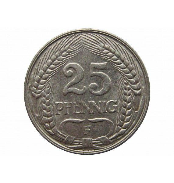 Германия 25 пфеннигов 1912 г. F