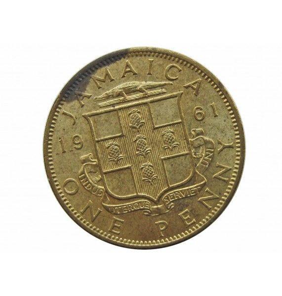 Ямайка 1 пенни 1961 г.