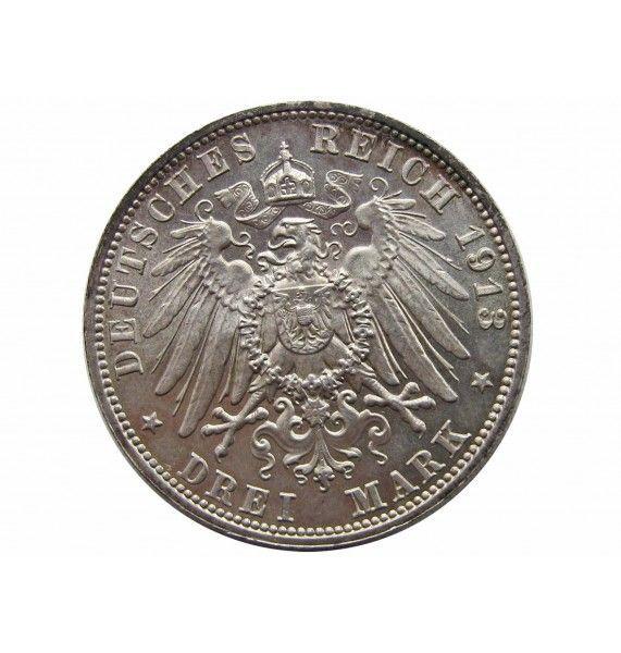 Саксония 3 марки 1913 г. (100 лет Битве народов)