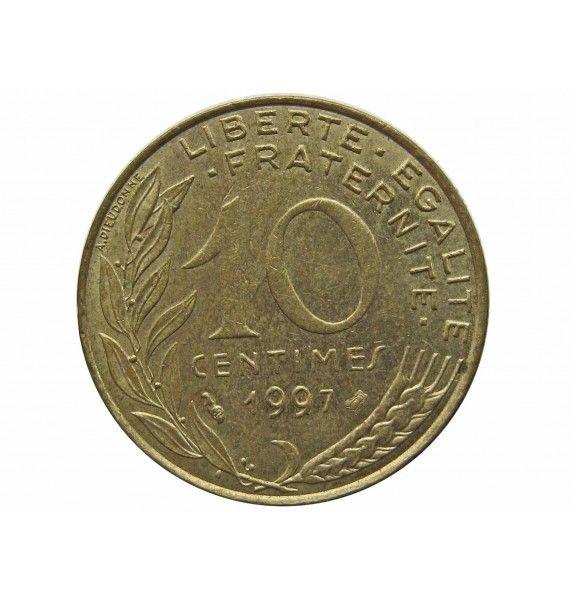 Франция 10 сантимов 1997 г.