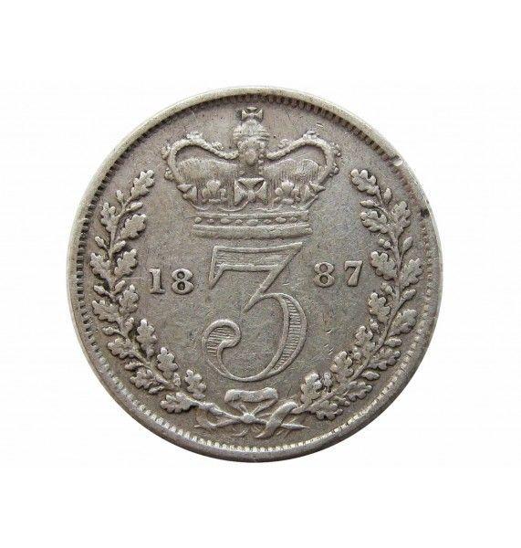 Великобритания 3 пенса 1887 г.