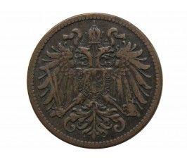 Австрия 2 геллера 1896 г.