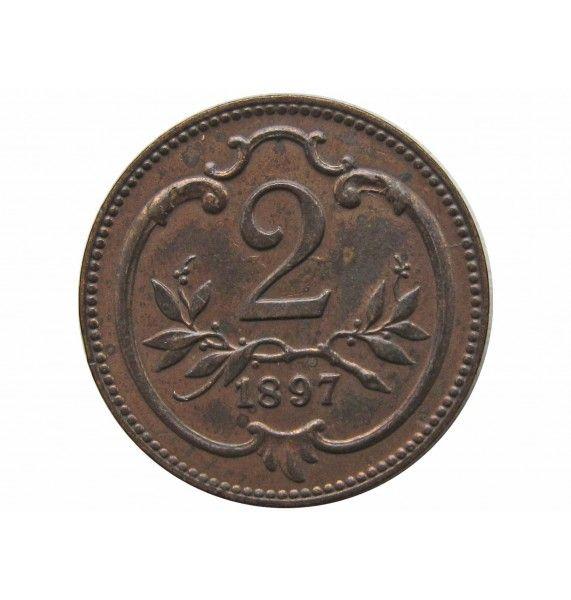 Австрия 2 геллера 1897 г.