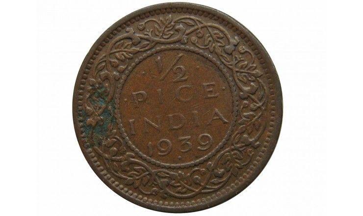 Индия 1/2 пайса 1939 г.