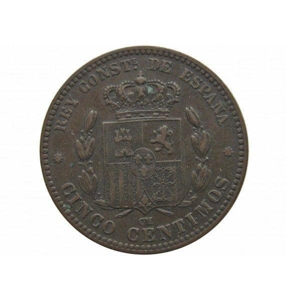 Испания 5 сентимо 1877 г.