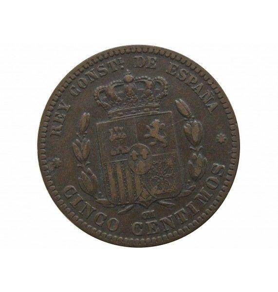 Испания 5 сентимо 1878 г.