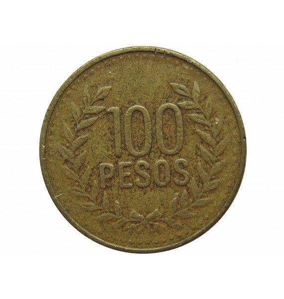 Колумбия 100 песо 2008 г.