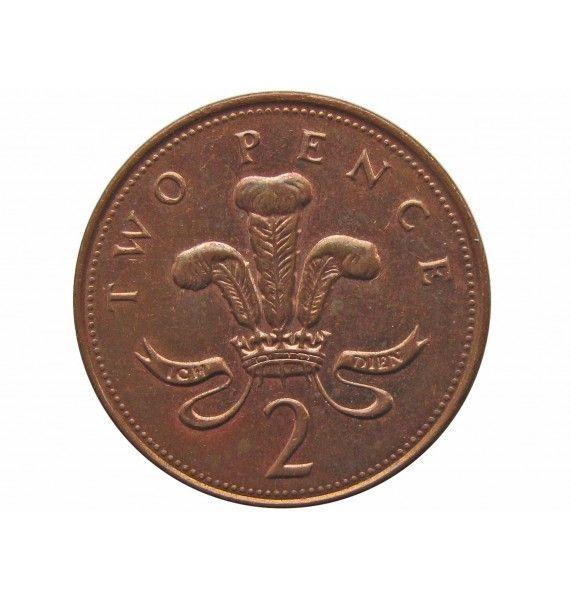 Великобритания 2 пенса 2000 г.