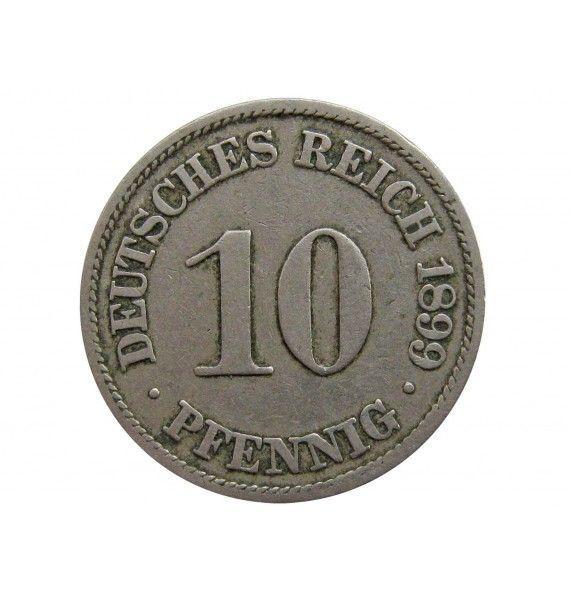 Германия 10 пфеннигов 1899 г. A