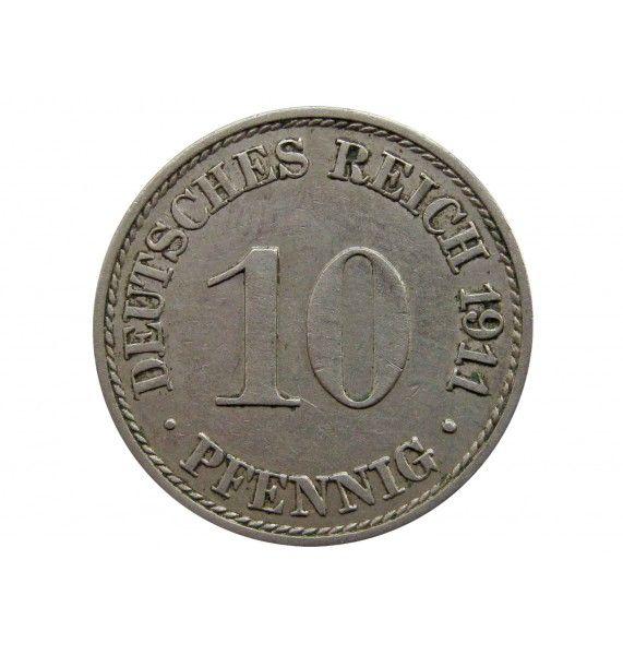 Германия 10 пфеннигов 1911 г. A