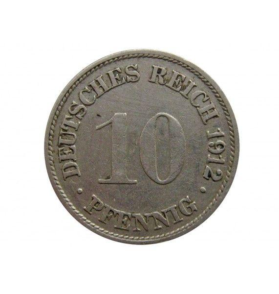 Германия 10 пфеннигов 1912 г. G