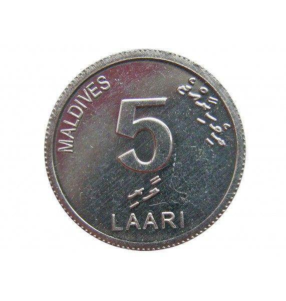 Мальдивы 5 лаари 2012 г.