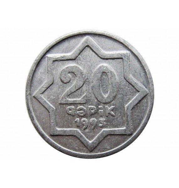 Азербайджан 20 гяпик 1993 г. (без точки)