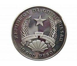 Гвинея-Бисау 10000 песо 1993 г. (Африканская фауна, слон)