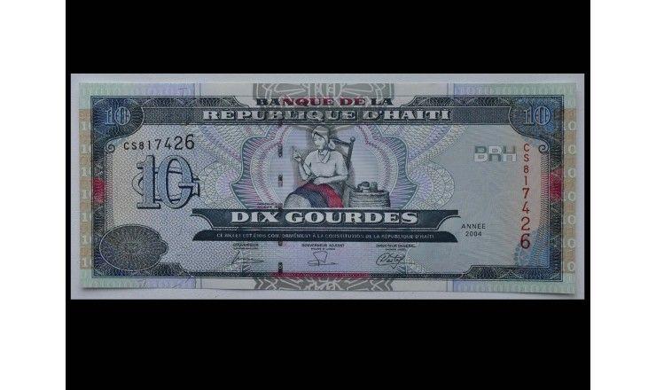 Гаити 10 гурдов 2004 г.