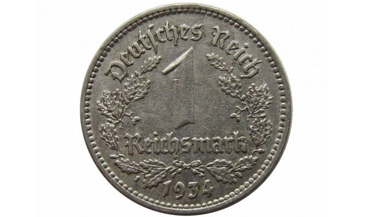 Германия 1 марка 1934 г. F