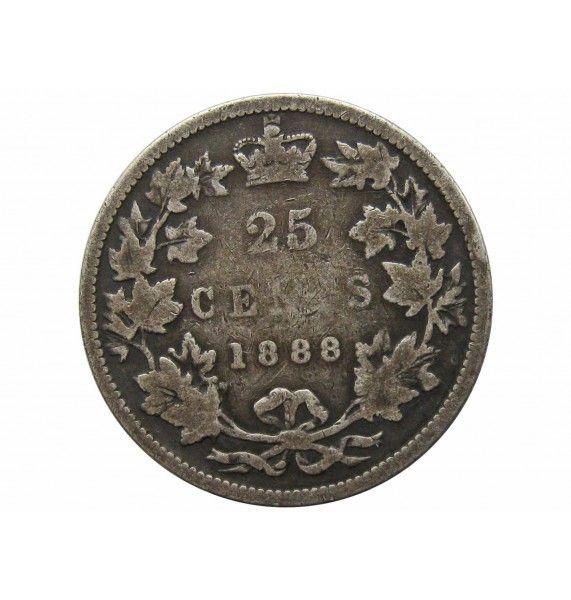 Канада 25 центов 1888 г.