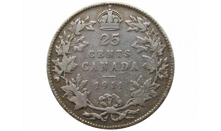 Канада 25 центов 1911 г.