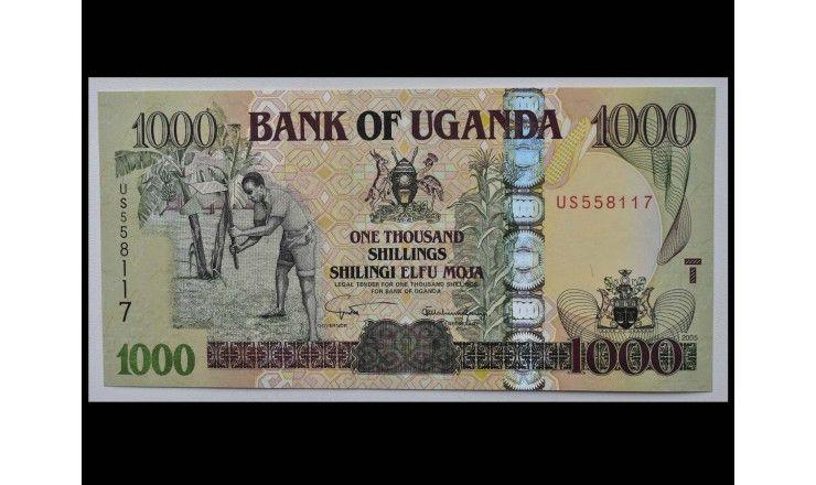Уганда 1000 шиллингов 2005 г.