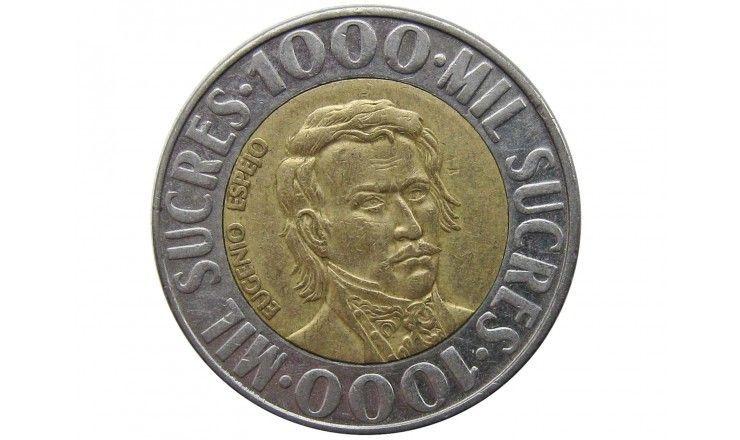Эквадор 1000 сукре 1996 г.