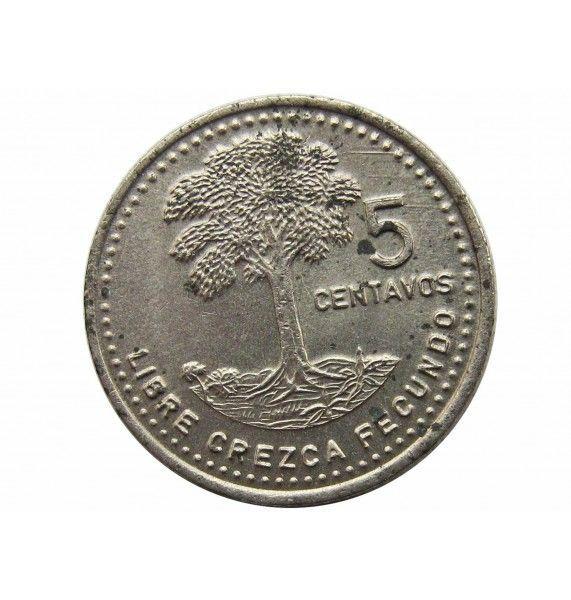 Гватемала 5 сентаво 1986 г.