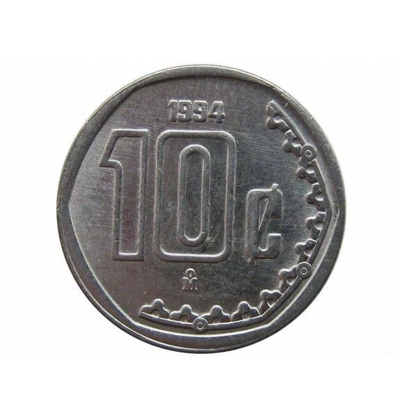Мексика 10 сентаво 1994 г.