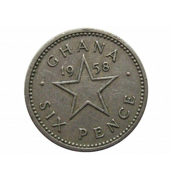 Гана 6 пенсов 1958 г.