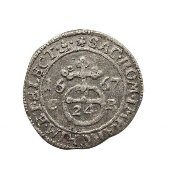 Саксония 1/24 талера 1667 г.