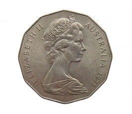 Австралия 50 центов 1977 г. (25 лет правлению Королевы Елизаветы II)