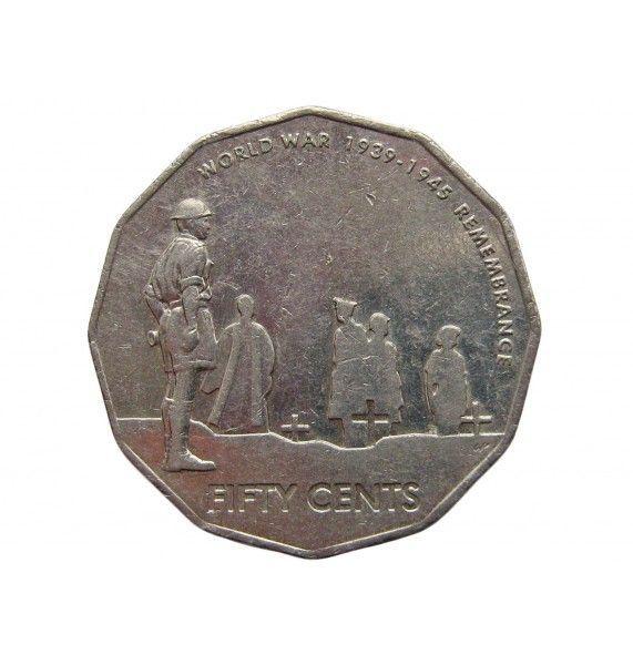 Австралия 50 центов 2005 г. (60 лет со дня окончания Второй Мировой войны)