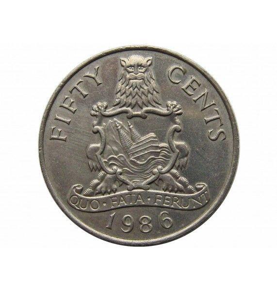 Бермудские о-ва 50 центов 1986 г.