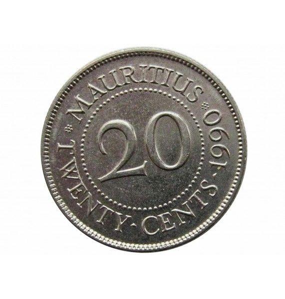 Маврикий 20 центов 1990 г.