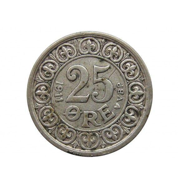 Дания 25 эре 1911 г.
